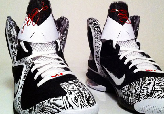 hot sale online 646a2 d3a0a Nike LeBron 9  Freegums All-Over  Customs by ROM