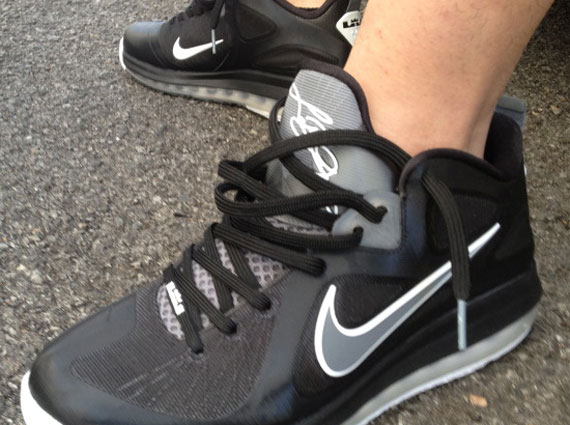 adc05e982977 60%OFF Nike LeBron 9 Low Black Cool Grey On Feet Images - molndalsrev.se