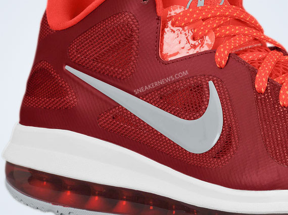 Nike LeBron 9 Low Team Red Challenge Red Wolf Grey