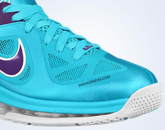 nike lebron 9 low turquoise blue court purple