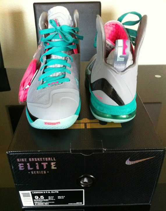 uk availability 9db7f 65253 Nike LeBron 9 Elite Wolf Grey Mint Cindy-New Green-Pink Flash 516958-001.  Summer 2012  250. Advertisement. show comments