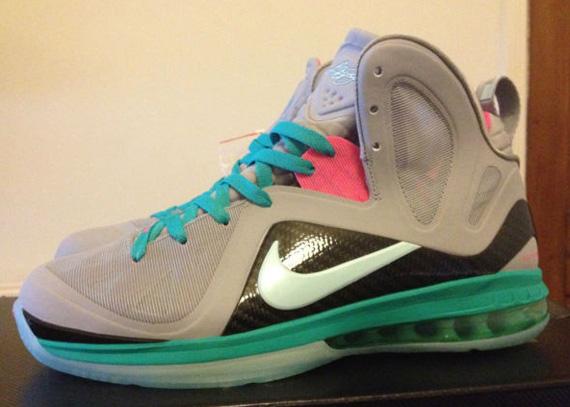 0ec61720becd Nike LeBron 9 P.S. Elite Wolf Grey Mint Candy-New Green-Pink Flash 516958- 001 06 02 12  250. Advertisement