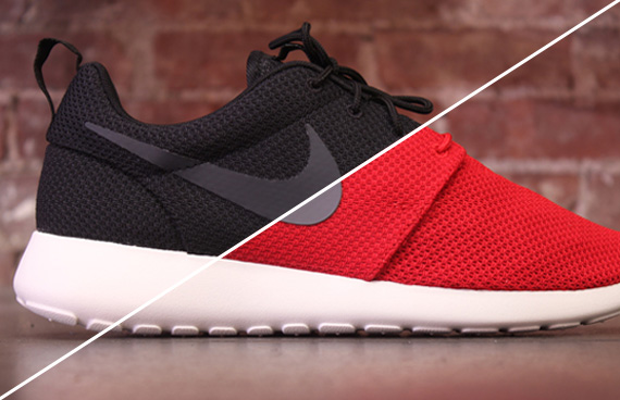 nike roshe run all red black tickets