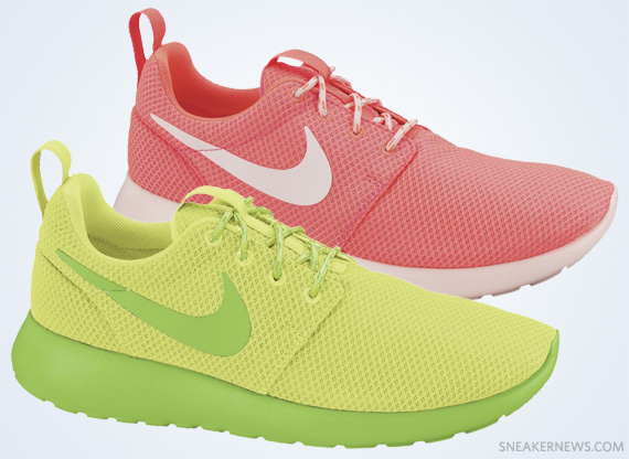 e3b698a6ccc4 Nike WMNS Roshe Run - Hot Punch + Liquid Lime - SneakerNews.com