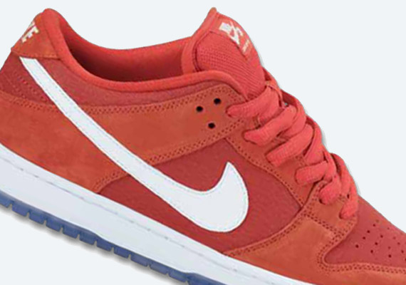 the latest dcf34 00f74 Nike SB Dunk Low – Red – White – Ice