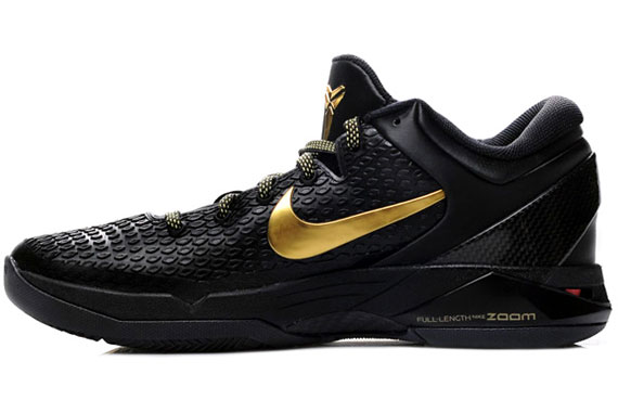 Nike Zoom Kobe VII Elite - Black - Metallic Gold - Dark Grey - SneakerNews.com
