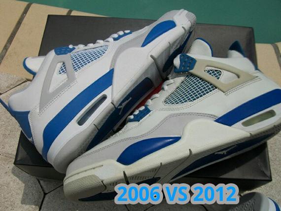 Air Jordan IV 'Military' - 2006 vs. 2012 Comparison - SneakerNews.com