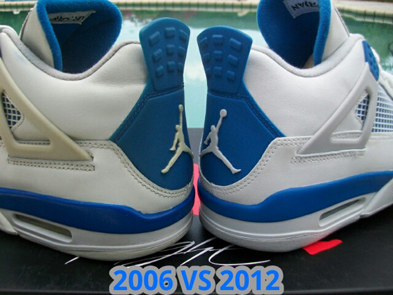 best sneakers b7c95 f5561 Air Jordan IV 'Military' - 2006 vs. 2012 Comparison ...
