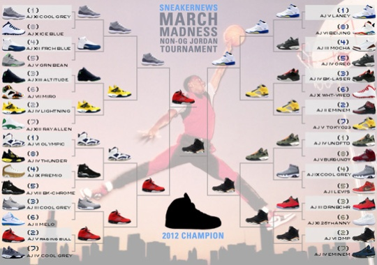 Sneaker News March Madness Non-OG Air Jordan Tournament – Champion Announced f4d187433460