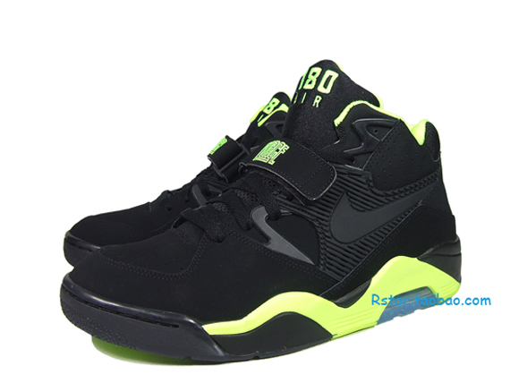 df416468c4 Nike Air Force 180 - Black - Volt - SneakerNews.com