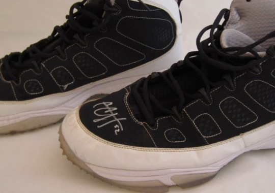 Air Jordan IX – C.C. Sabathia Autographed Game-Worn Turf PE