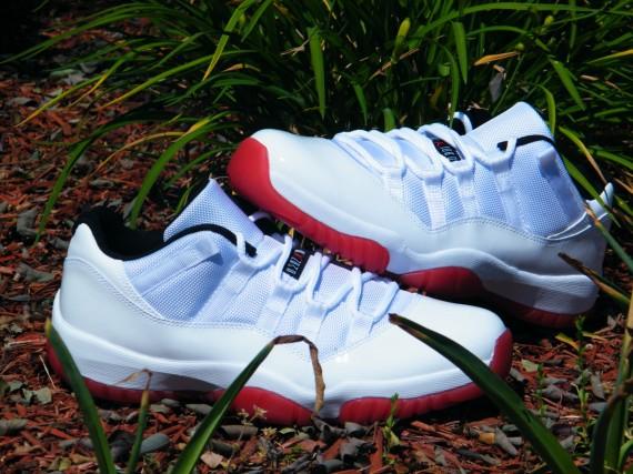 best sneakers b80a0 f3924 Air Jordan XI Low – White – Varsity Red   Arriving at Retailers