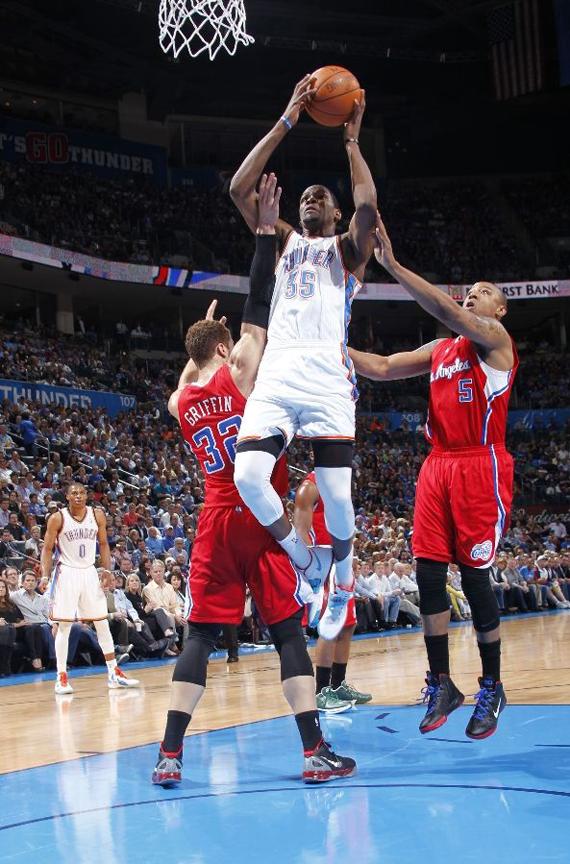 NBA Feet: Kevin Durant - Nike N7 Zoom KD IV 'Home ...Kd 4 On Feet