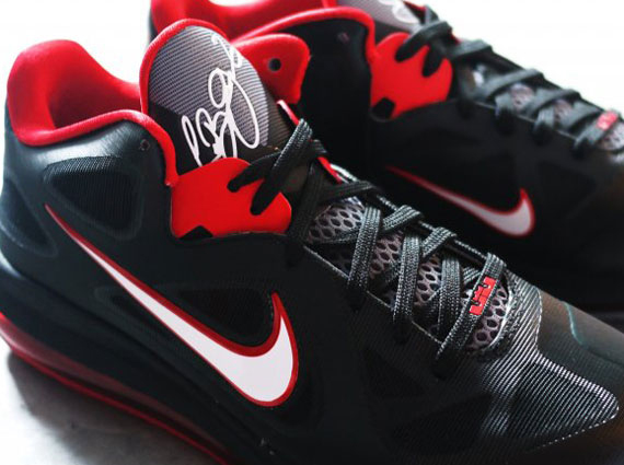 new product 71138 c05d3 Nike LeBron 9 Low - Black - Sport Red - White - SneakerNews.com