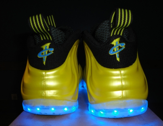 Nike Air Foamposite One 'Electrolime' Light-Up Customs – Available on eBay