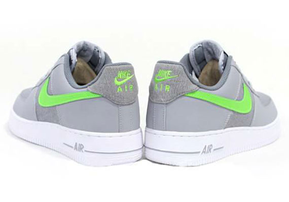 best authentic ef39f c0358 Nike Air Force 1 Low – Grey – White – Bright Green