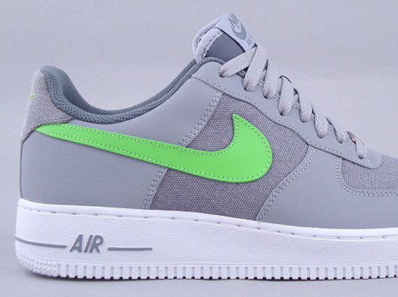 nike air force 1 low wolf grey electric green