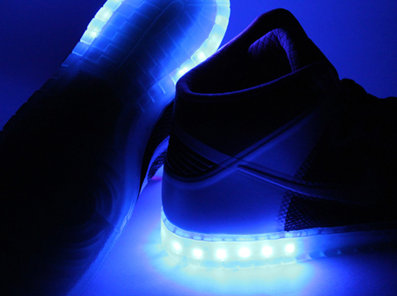 nike dunk high hyperfuse id light up customs by evolved footwear
