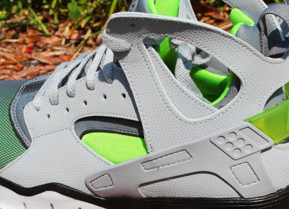 Nike Air Huarache Basketball 2012 Wolf GreyAction Green