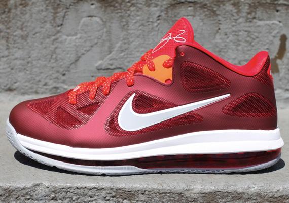 new style 4cdb3 97584 Nike LeBron 9 Low Team RedChallenge Red-Wolf Grey 510811-400 150.