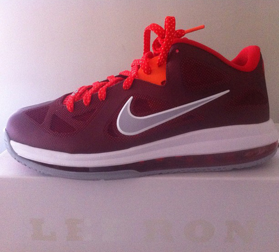 official photos 99377 3d46c Nike LeBron 9 Low Team Red Challenge Red-Wolf Grey 510811-400