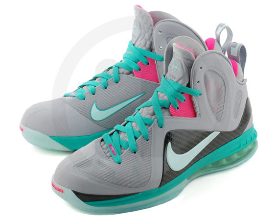 Nike LeBron 9 P.S. Elite Wolf Grey/Mint Candy-New Green-Pink Flash