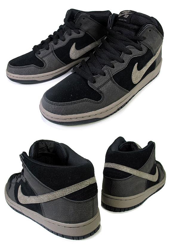 sports shoes e52c8 0356e Nike SB Dunk Mid - Black - Iron - SneakerNews.com