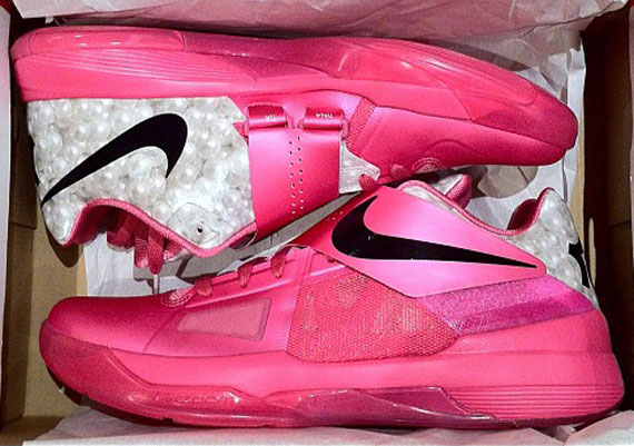 Nike Zoom KD IV 'Aunt Pearl' Think Pink - SneakerNews.com