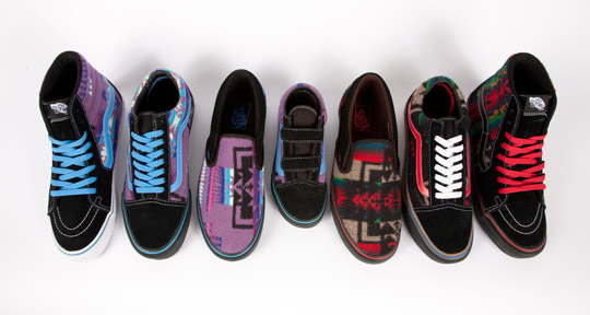 d1561d24917b9 Pendleton x Vans x Nibwaakaawin for 2012 All Nations Skate Jam ...