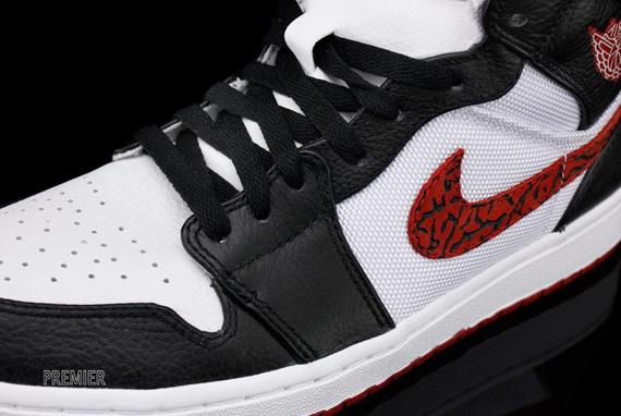 Air Jordan 1 Phat Blanc Fac Encre Rouge-noir
