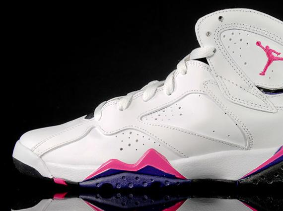 air jordan 7 pink and white