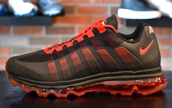 buy popular ce9f3 e1b74 Nike Air Max+ 95 BB - Black - Sport Red   Available - SneakerNews.com