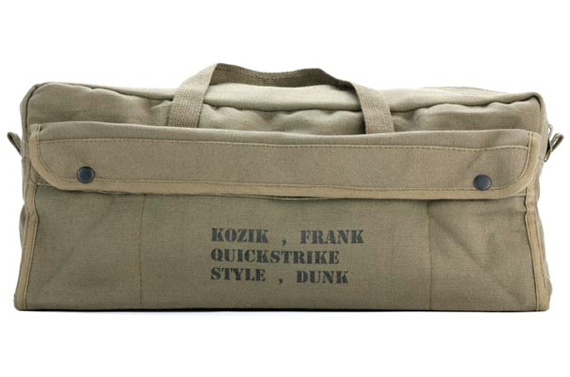 Frank Kozik x Nike SB Dunk High QS - Limited Artist Edition Army Bag ... c2cee4cf0528c