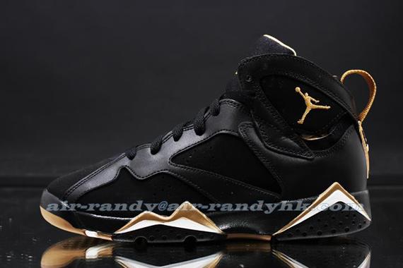 air jordan 7 black gold