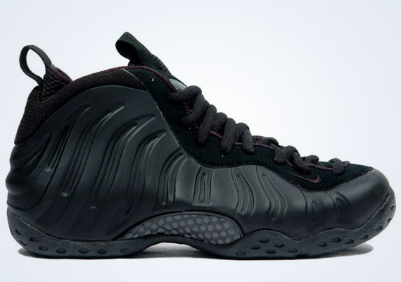 Nike Foamposite One Anthracite Sneakers (Black/Black-Anthracite)