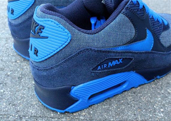 nike air max 90 denim dark blue