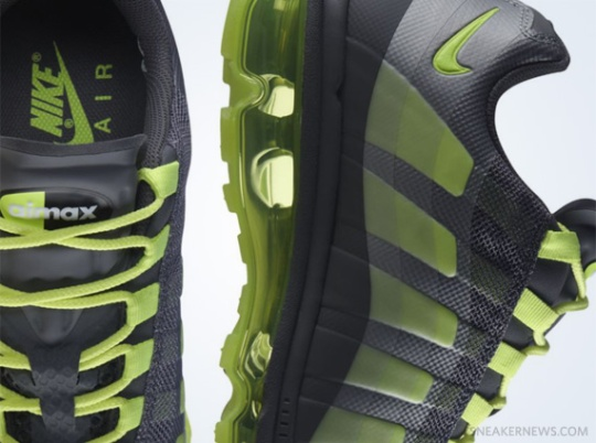 Nike Air Max+ 95 360 – Dark Grey – Volt   Release Date