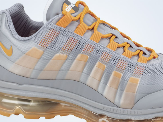 Nike Air Max 95 360 Wolf Grey Yellow Shoes