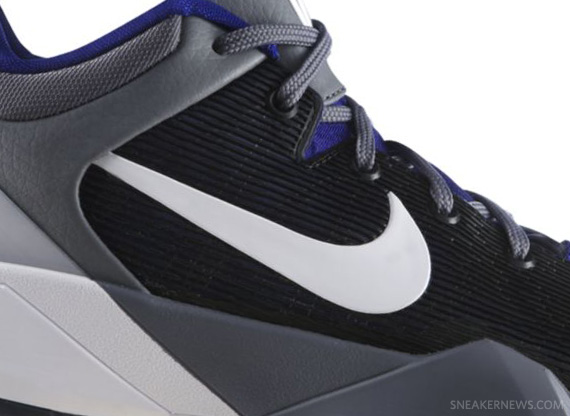 Nike Zoom Kobe VII Concord White Cool Grey Del Sol | Release Date