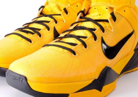 Nike Zoom Kobe VII iD – Kobe Bryant Yellow/Black Playoff PE