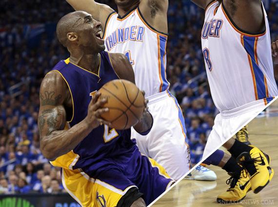 NBA Feet: Kobe Bryant Nike Zoom Kobe VII Supreme Playoff PE