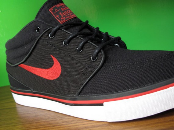 Nike Zoom Stefan Janoski Mid – Black – Sport Red