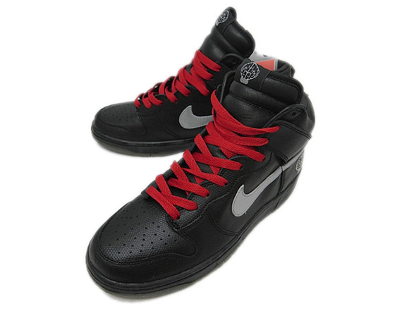 uk availability 4d42d f8be8 Pharrell x Nike Dunk High Black Metallic Silver-Varsity red 308418-001  01 2004. Advertisement. Images  rakuten