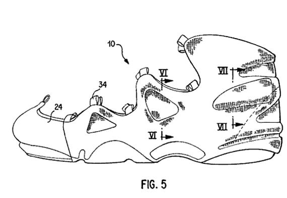 Original Nike Air Foamposite One Patent Drawings