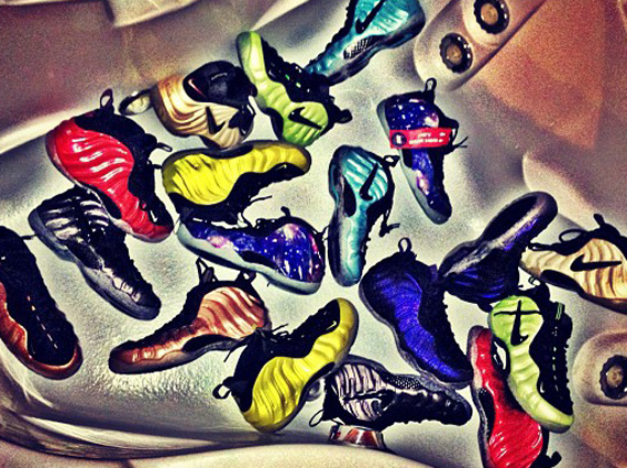 510469dbc0f36 The Game Shows Off His Air Foamposite Collection - SneakerNews.com