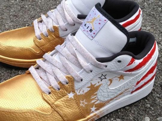 "Air Jordan 1 Low ""Dave White"" Customs By Mache"