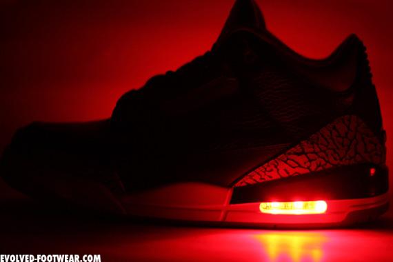 air jordan iii light up customs by evolved footwear sneakernews com