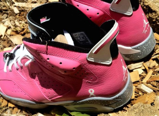 """Air Jordan VI """"Think Pink"""" Customs by DeJesus"""