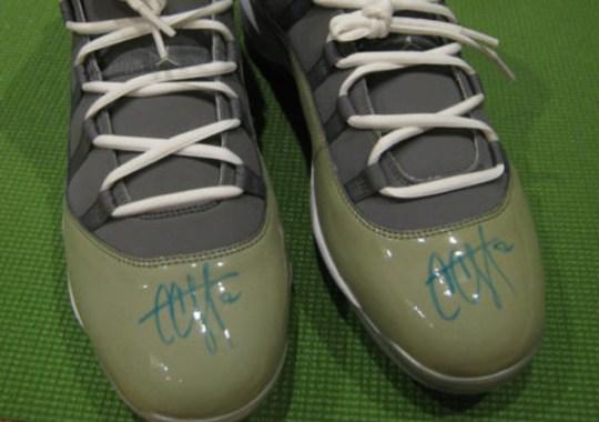 "Air Jordan XI ""Cool Grey"" – C.C. Sabathia Autographed PE"