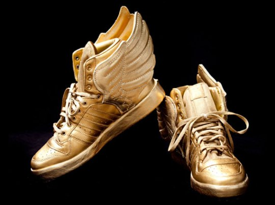 Justin Bieber's Custom Gold adidas Wings